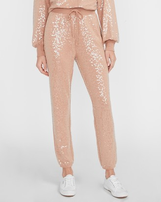 Express High Waisted Sequin Jogger Pant
