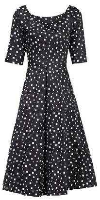 Dorothy Perkins Womens *Jolie Moi Black Pattern Midi Fit And Flare Dress, Black