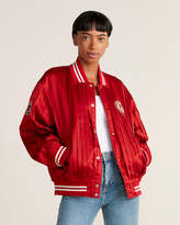 Undercover Silk Pleated Bomber