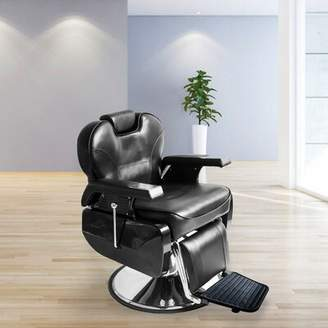 Genuine Leather Reclining Adjustable Width Massage Chair Symple Stuff