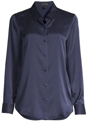 Eileen Fisher Classic Collar Silk Blouse