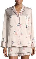 Natori Papillon Floral-Print Satin Short Pajama Set