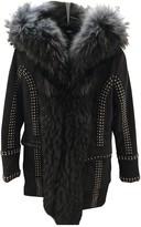 Philipp Plein Grey Cotton Coat for Women