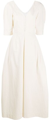 Jil Sander V-neck flared dress