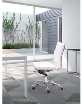 ZUO Lider Plus Armless White Office Chair