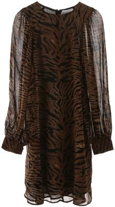 Ganni Animalier Print Mini Dress