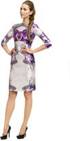 Prabal Gurung Purple Psychedelic Floral Sheath