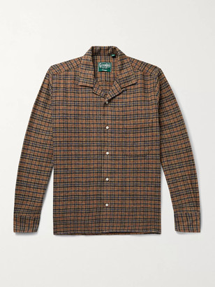 Gitman Brothers Camp-Collar Checked Cotton-Flannel Shirt