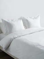 Melange Home Cotton Percale Laurel Embroidered Duvet Set