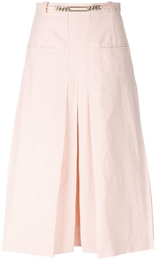 Carven pleated detail midi skirt