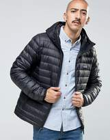 Patagonia Down Sweater Hooded Jacket In Black