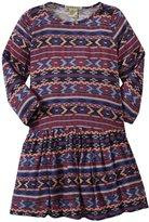 Anthem of the Ants Frida Dress (Toddler/Kid) - Indigo Frida Print-3T