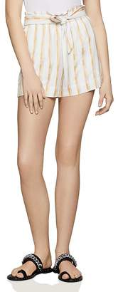 BCBGeneration Paperbag-Waist Striped Shorts - 100% Exclusive