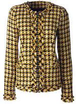 Lands' End Women's Textured Jacket-Golden Yellow Tweed