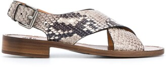 Church's Rhonda python-print sandals