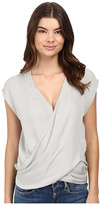 Heather Silk Cross Front Top