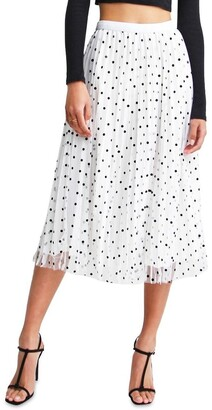 Belle & Bloom Mixed Feelings White Reversible Skirt White XS/S