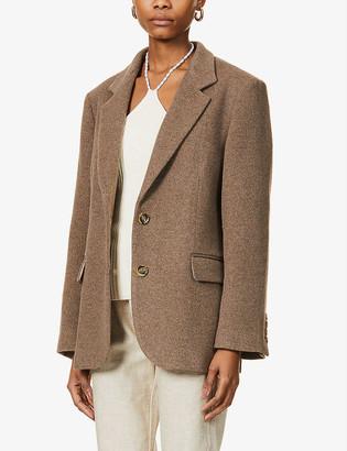 Musier Paris Parys single-breasted wool-blend blazer