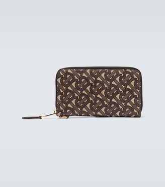 Burberry Monogrammed e-canvas travel wallet