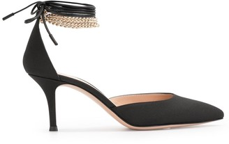 Gianvito Rossi Wrapped Ankle Pumps