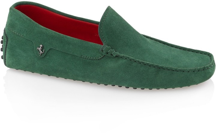 Tod's Ferrari Gommino Suede Moccasin Loafers