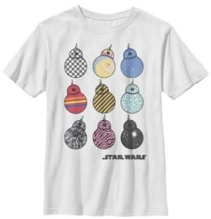 Star Wars Big Boys Bb-8 Wild Prints Short Sleeve T-Shirt