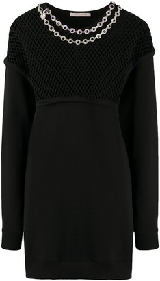 Christopher Kane Net Sweatshirt Dress