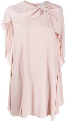 RED Valentino Bow-Embellished Draped Dress