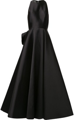Azzi & Osta Ruffled-Back Satin Ball Gown