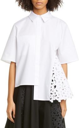 PASKAL clothes Atlas Laser Cut Butterfly Stretch Cotton Shirt