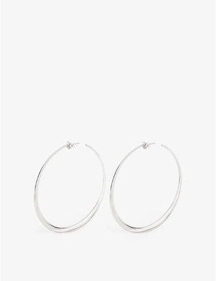 THE ALKEMISTRY Dinny Hall Signature large sterling silver hoop earrings