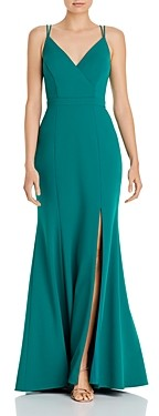 Aqua A-Line Evening Gown - 100% Exclusive
