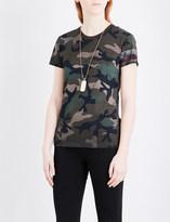 Valentino Camouflage-print jersey T-shirt