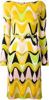 Emilio Pucci printed slash neck dress