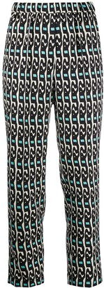 Christian Wijnants Geometric Print Tailored Trousers