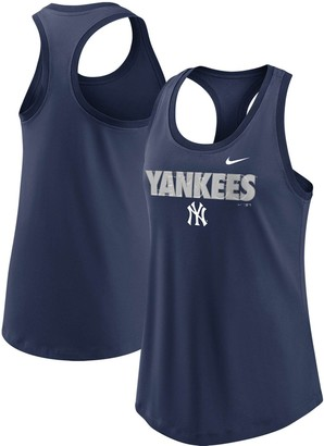 Nike Women's Navy New York Yankees Let's Go Racerback Performance Tank Top