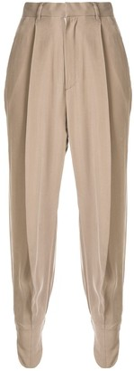 AKIRA NAKA pleated tapered trousers