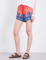 Free People San Paulo mid-rise satin shorts