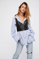 Free People Layered Up Vegan Leather Vest