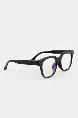 francesca's Jade Oversize Blue Light Glasses - Black
