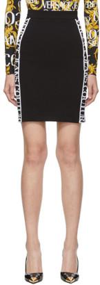 Versace Black VJC Tape Miniskirt