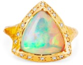 Logan Hollowell - New! One Of A Kind Cosmic Trillion Opal With Diamonds