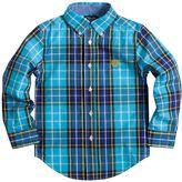 Chaps Boys 4-7 Woven Large Plaid Button-Down Shirt