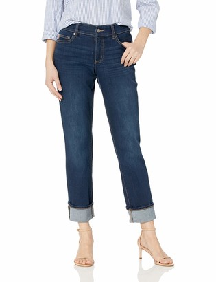 Chaps Women's Four Way-Stretch Denim Straight Pant