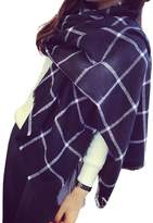FENTI Womens Soft Plaid Check Scarf Cashmere Wool Feel for Office Daily Wear