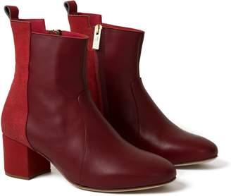 Inlu Mid Heel Red & Bordeaux