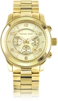 Michael Kors Men's Runway Gold-Tone Stainless Steel Bracelet Watch