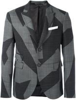 Neil Barrett abstract print blazer
