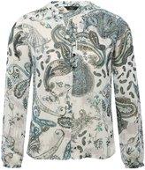 M&Co Petite paisley metallic thread top