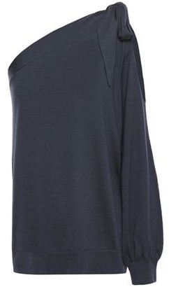 Brunello Cucinelli One-shoulder Cutout Cashmere And Silk-blend Top